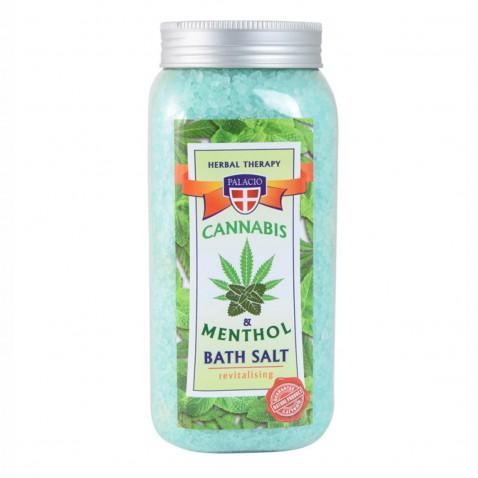 Konopná soľ do kúpeľa s mentolom, 900 g