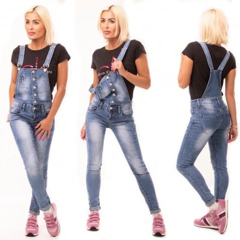 Jeans s trakmi na gombíky