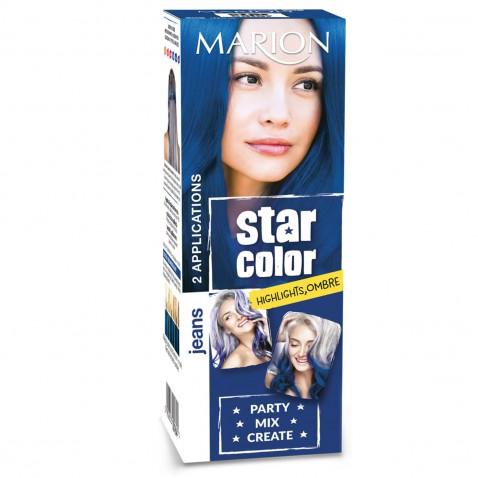 Marion Star Color zmývateľná farba na vlasy Jeans, 2 x 35 ml
