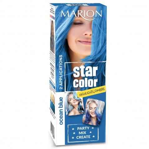 Marion Star Color zmývateľná farba na vlasy Ocean Blue, 2 x 35 ml