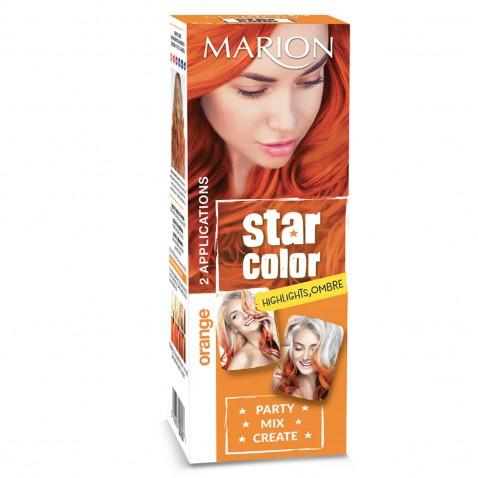 Marion Star Color zmývateľná farba na vlasy Orange, 2 x 35 ml