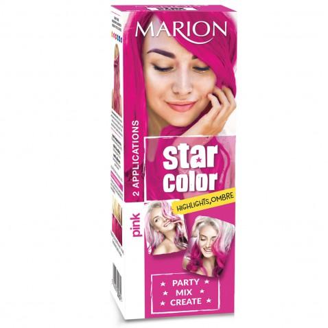 Marion Star Color zmývateľná farba na vlasy Pink, 2 x 35 ml
