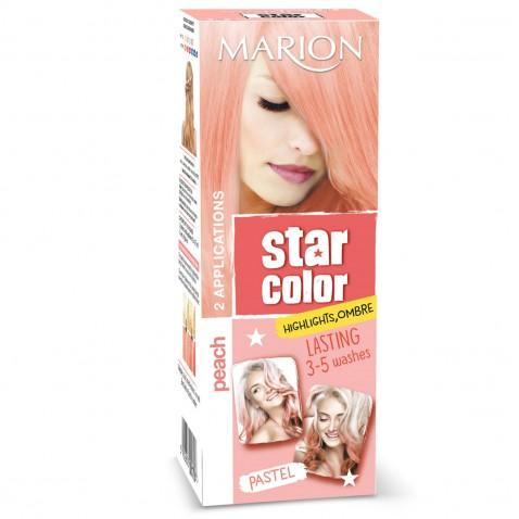 Marion Star Color zmývateľná farba na vlasy Pastel Peach, 2 x 35 ml