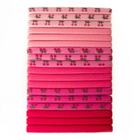 Sada gumičiek Pink 18 ks