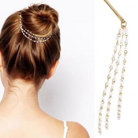 Perlové retiazky do vlasov