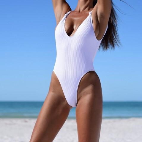 Dámske jednodielne plavky Briana - white