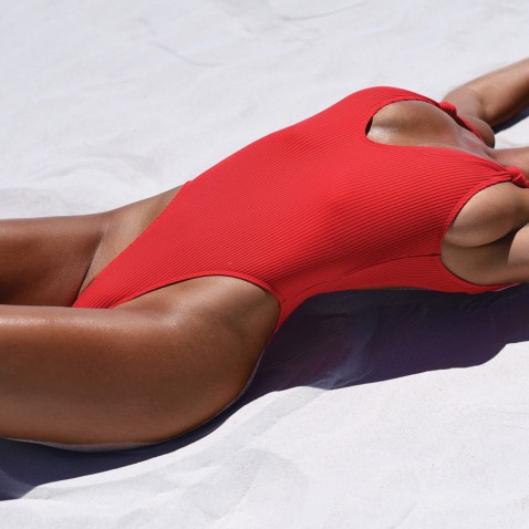 Dámske jednodielne plavky Briana - red