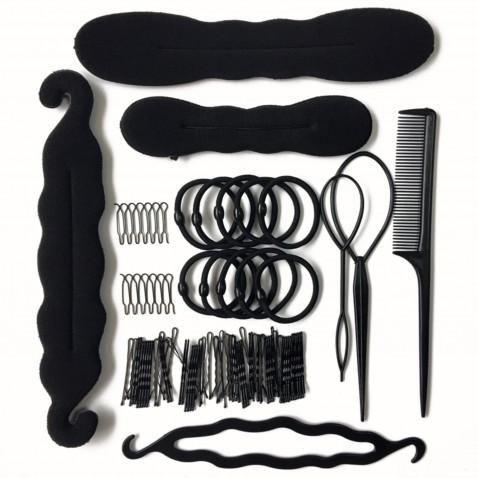 Súprava na úpravu vlasov a tvorbu drdolov - 79 ks