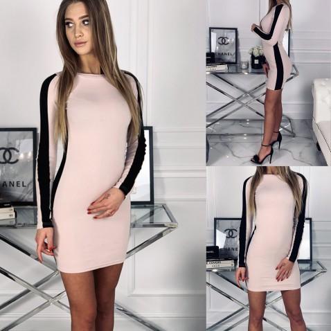 Dámske elastické šaty Ella Powder