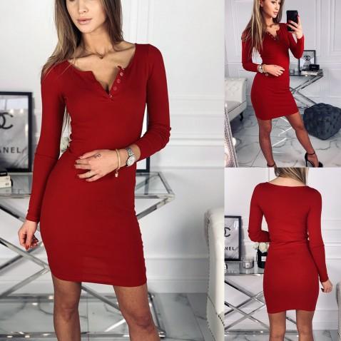 Dámske elastické šaty Penelope - červené