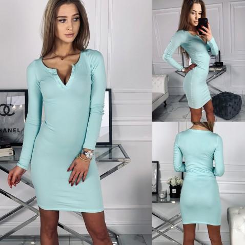 Dámske elastické šaty Penelope - mint