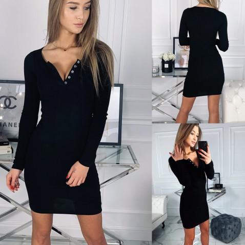 Dámske elastické šaty Penelope - čierne