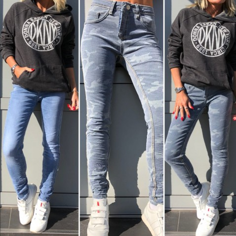 Obojstranné skinny jeans 2v1