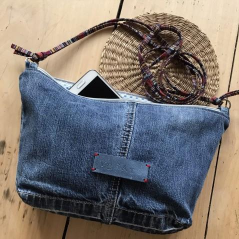 Crossbody kabelka z džínsoviny