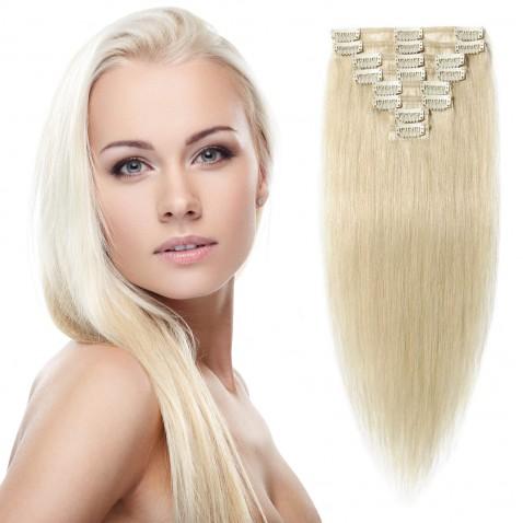 Clip in vlasy 51 cm ľudskej - Remy 100 g - odtieň 60