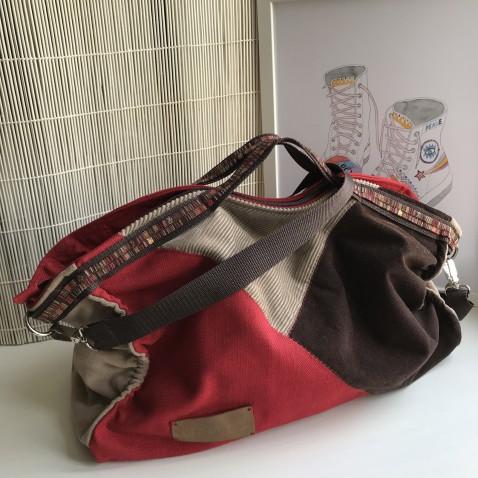 Veľká zošívaná taška