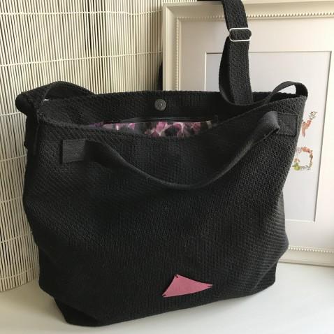 Čierna látková taška