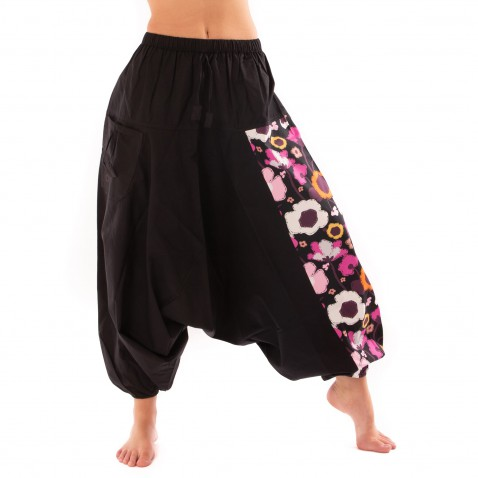 Harémové nohavice Bumginy Flowers Multicolor