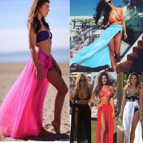 Plážová sukňa na zaväzovanie