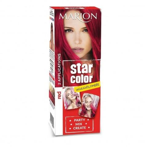 Marion Star Color zmývateľná farba na vlasy Red, 2 x 35 ml