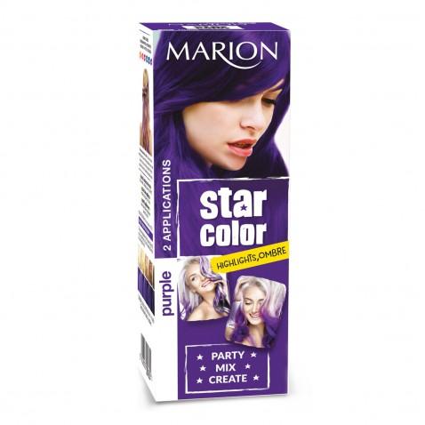 Marion Star Color zmývateľná farba na vlasy Purple, 2 x 35 ml