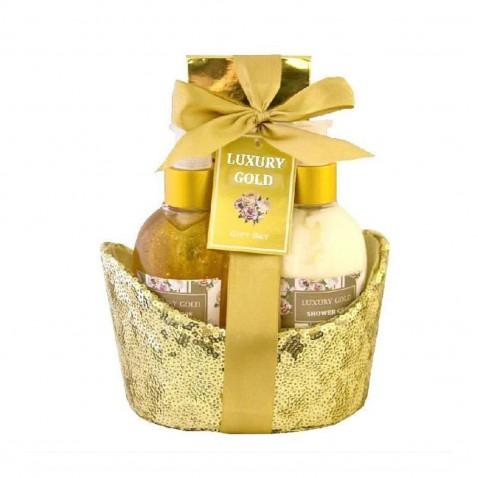 Salsa Collection Darčeková kozmetická sada Gold peony & jasmine, 3 - dielna