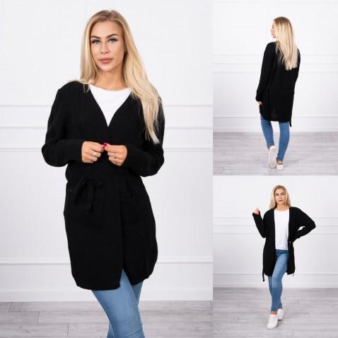 Dámsky pruhovaný sveter - Black