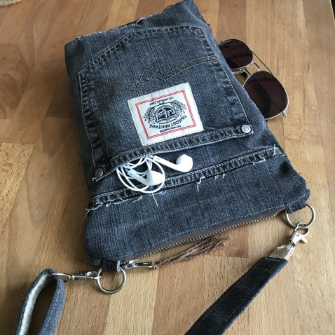 Džínsová taška modrá Cross 1