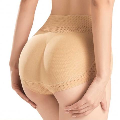 Push up tvarovacie nohavičky so stredným pasom telové