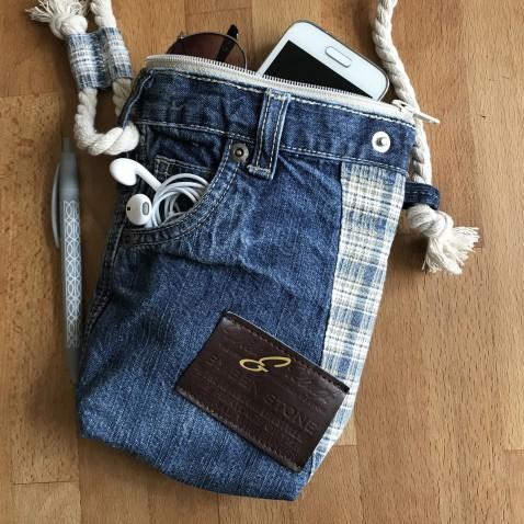 Džínsová taška modrá Cross 2