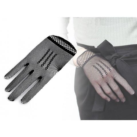 Spoločenské rukavice sieťované / gotik
