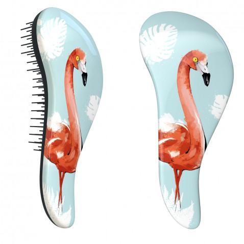 Dtangler rozčesávacia kefa na vlasy - Flamingo