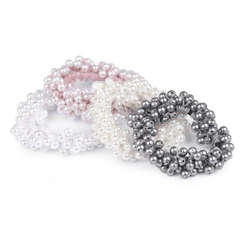 Vlasová gumička z perličiek - Pearl