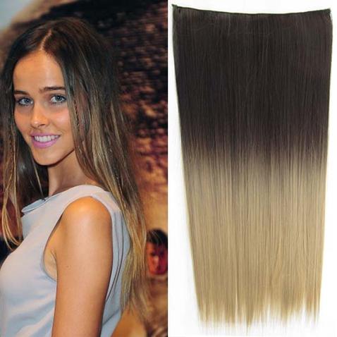Clip in vlasy - rovný pás - ombre - odtieň 2 T 24