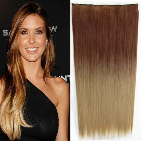 Clip in vlasy - rovný pás - ombre - odtieň 30P T 24