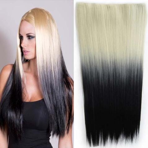 Clip in vlasy - rovný pás - ombre - odtieň 613 T Black