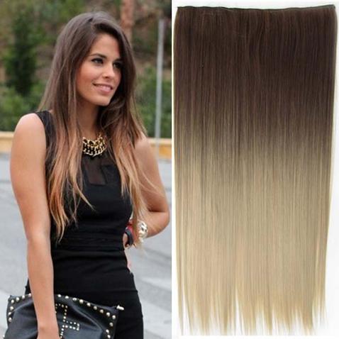 Clip in vlasy - rovný pás - ombre - odtieň 10 T 16