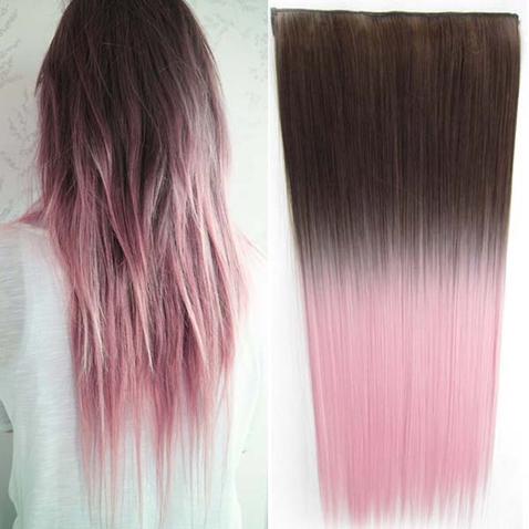 Clip in vlasy - rovný pás - ombre - odtieň 8 T Light Pink