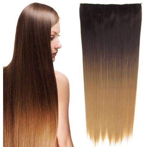 Clip in vlasy - rovný pás - ombre - odtieň 4 T 27