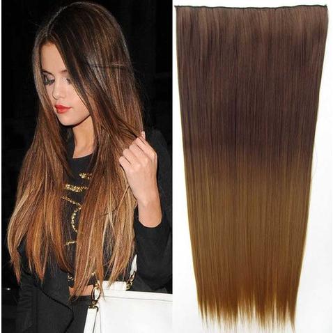 Clip in vlasy - rovný pás - ombre - odtieň 8 T 27
