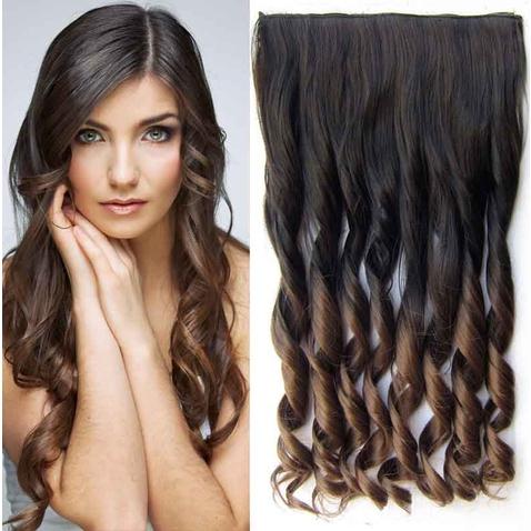 Clip in vlasy - pás, lokne - ombre - odtieň  2 T 10