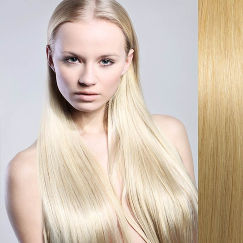 Clip in vlasy ľudské - Remy 105 g - pás vlasov - 613 - blond