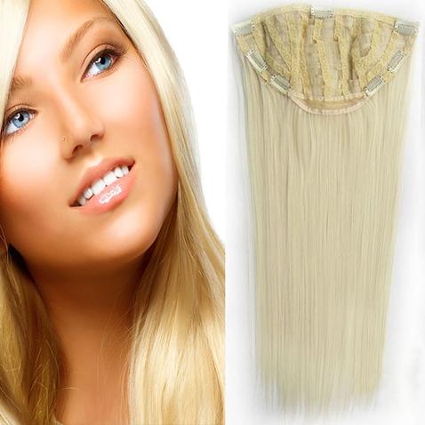Clip in pás - Jessica 65 cm rovný - 613 - blond