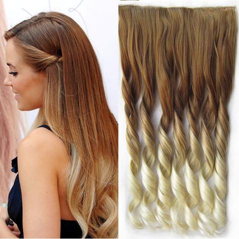 Clip in vlasy - pás, lokne - ombre - odtieň  27 T 613