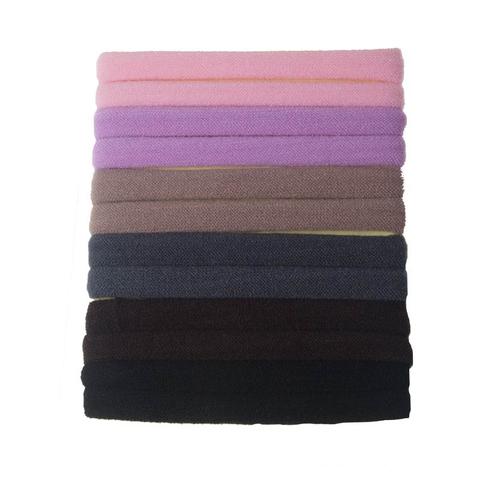 Sada gumičiek do vlasov v pastelových farbách