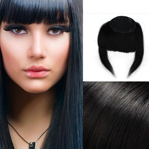 Clip in ofina - REMY 100% ľudské vlasy - 1# - čierna