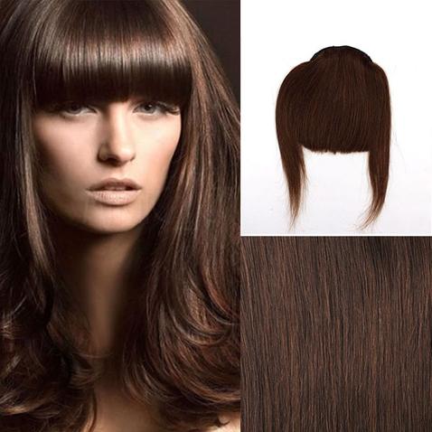 Clip in ofina - REMY 100% ľudské vlasy - 4 - hnedá