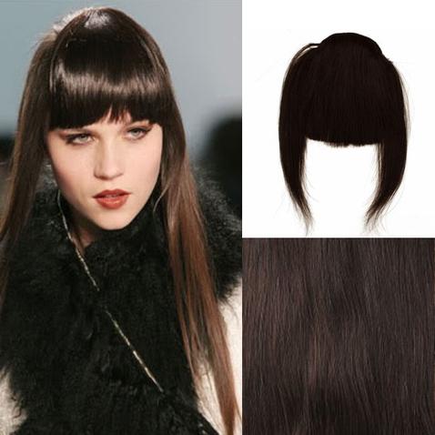 Clip in ofina - REMY 100% ľudské vlasy - 2 - čiernohnedá