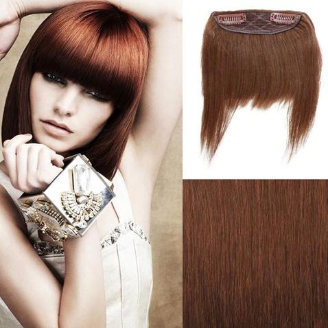 Clip in ofina - REMY 100% ľudské vlasy - 6 - hnedá