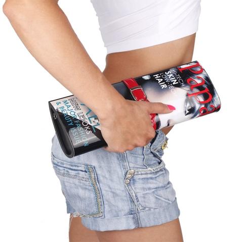 Listová kabelka - dizajn módneho časopisu - červená Paparazzi